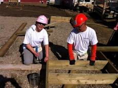 Click to view album: Habitat for Humanity Build 28 July, 2012