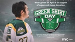 Participate in Green Shirt Day on April 8