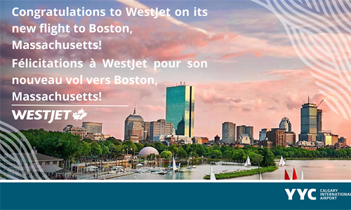 WestJet adds Boston to its list of U.S. destinations