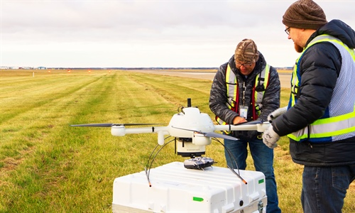 Drone survey on YYC's west runway