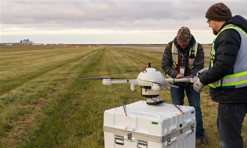 There's a drone for that: West airfield pavement evaluation underway