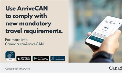 Mandatory ArriveCAN app use for travellers into Canada