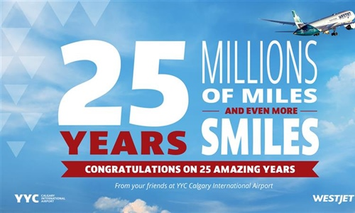 Congratulations WestJet on 25 amazing years