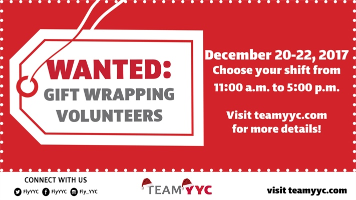 Gift Wrapping Volunteers Wanted!